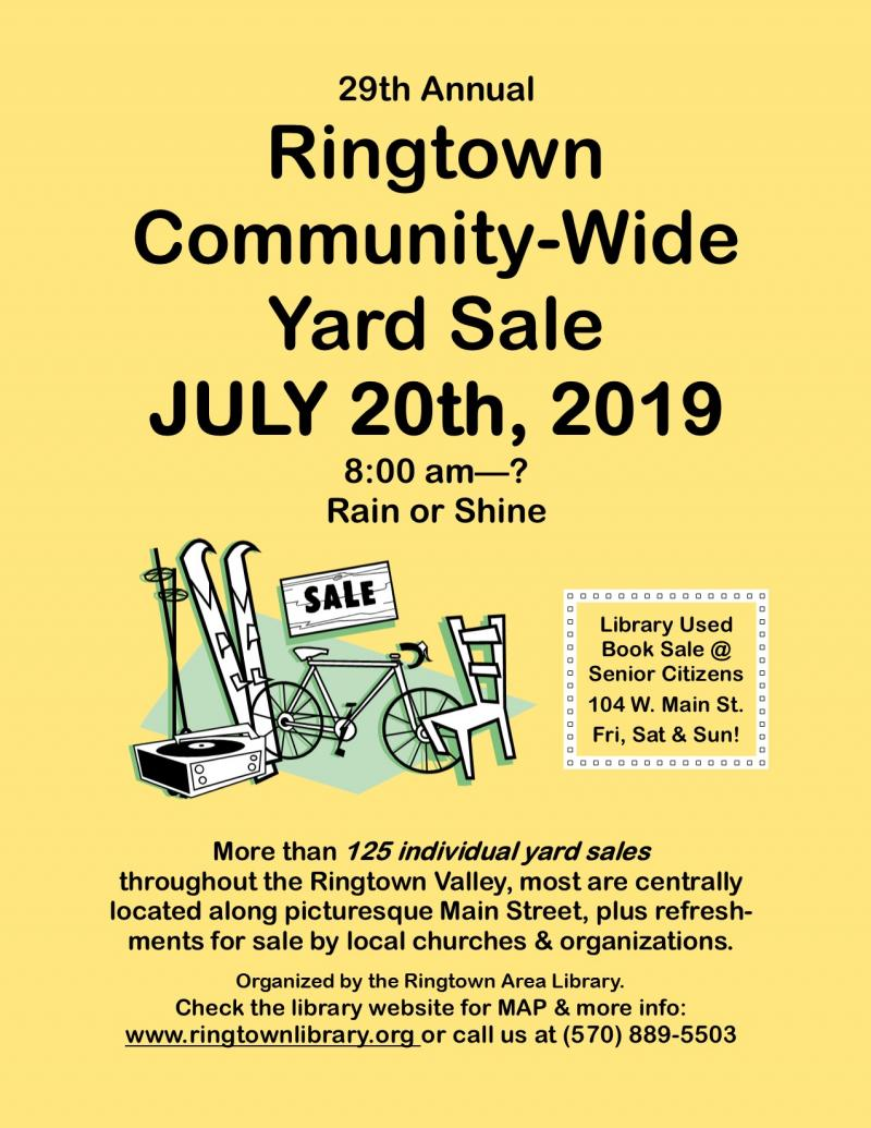 Ringtown Area Library - Ringtown Community Yard Sale